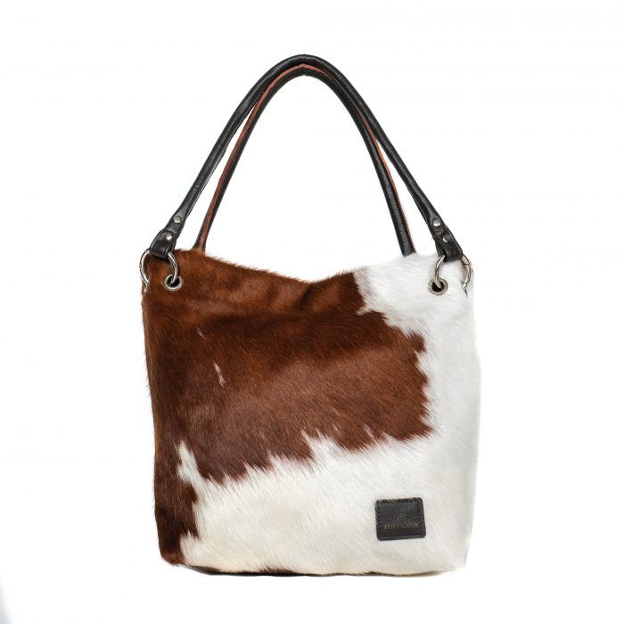 bags-leather-slouch-bags-boho bags, cowhide-bags -brown and white, leather bags, fashion accessories, women's accessories, handmade bags, artisan made, socially conscious brand, sustainable fashion