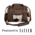 cowhide travel bag, weekend bag, leather travel bag, fashion accessories, bags