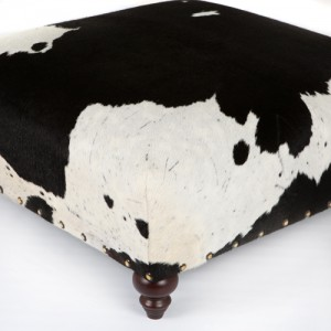 Nguni black and white cowhide ottoman, home interiors, luxury interiors, furniture,