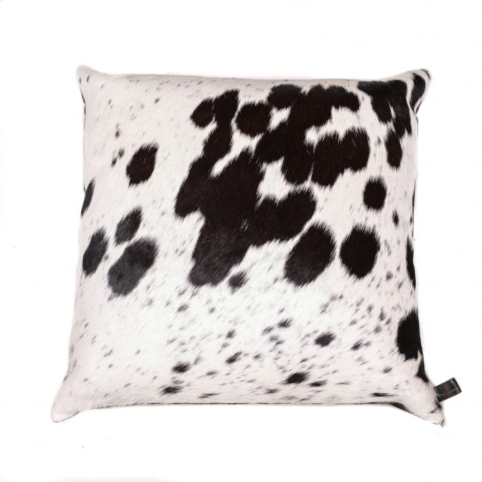 Zulucow Nguni cowhide cushion black and white scatter cushions home accessories soft furnishings interiors home, sustainable, ethical, handmade