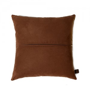 Zulucow cowhide cushions brown suede back scatter cushions home accessories soft furnishings interiors home decor pillows