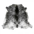 Black and white fleck cowhide rug, Nguni, sustainable, ethical home interiors, luxury home decor