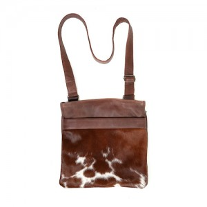 Zulucow cowhide bags leather bags crossbody bag brown & white fashion accessories bags womenswear
