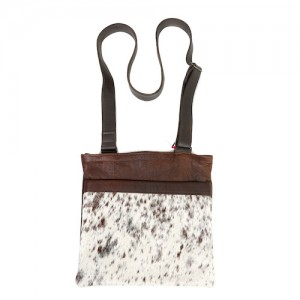 Zulucow cowhide bags leather bags crossbody bag tricolour brown &white fashion accessories bags womenswear