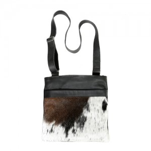 Zulucow cowhide bags leather bags crossbody bag black grey & white fashion accessories bags womenswear