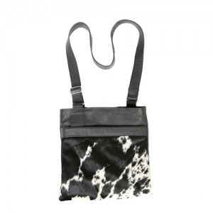 Zulucow cowhide bags leather bags crossbody bag black & white fashion accessories bags womenswear