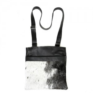 Zulucow cowhide leather bag crossbody bag black white & grey fashion accessories bags womenswear