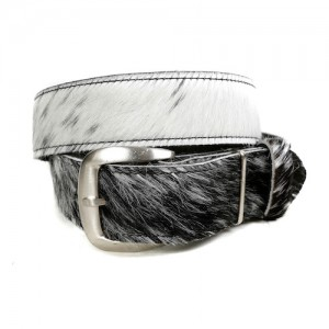 Zulucow Nguni cowhide belt grey white black belt buckle cowhide accessories womenswear fashion