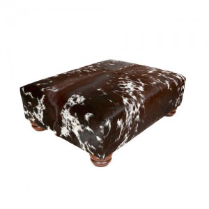 nguni cowhide ottoman brown and white luxury home interiors, home decor
