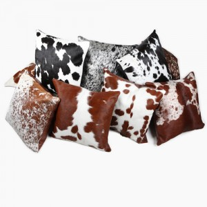 cowhide cushions, pillows, soft furnishings, home interiors, luxury interiors