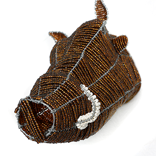 warthog beaded head, wall art, wall hanging, wall decor, wire animal sculpture, beaded heads, african wire beaded heads, wall art, home decor interiors