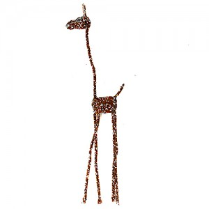 beaded wire animal sculpture, african wire beaded sculpture, home decor interiors , hand made in africa