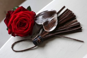cowhide key rings brown and white Valentine's gifts