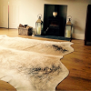 Zulucow Nguni cowhide rug, cream rug, animal skin, by product, luxury interiors, home interiors, interior styling, soft furnishings, sustainable, ethical, living room decor, floor art