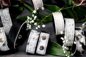 cowhide cuffs black and white cowhide bracelets, women's accessories