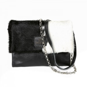cowhide bag leather handbag to bag black & white fashion accessories bags womenswear