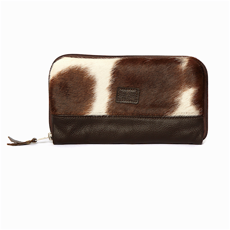 d7a009455d7a Cowhide Travel Wallet Clutch - Zulucow