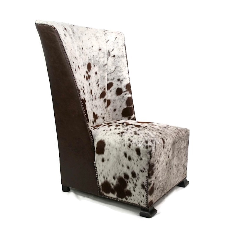 Zulucow, Nguni cowhide, bespoke furniture, cowhide furniture, leather art deco chair, luxury interiors, custom made furniture, animal print,