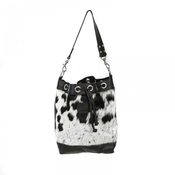 bags-leather-slouch bags, hobo bags-cowhide-purses, bags-black and white, leather bags, fashion accessories, women's accessories