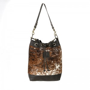 bags-leather-bucket-bags-cowhide-bags-brown and white, tricolour, leather bags, fashion accessories, women's accessories