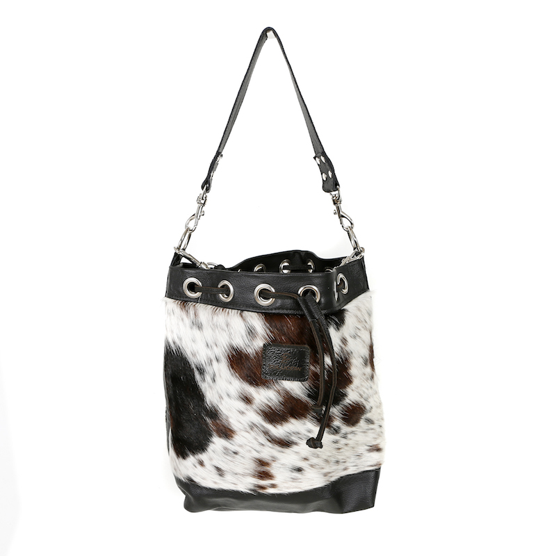 bags-leather-slouch bags, hobo bags-cowhide-purses, bags-brown and white, tricolour, leather bags, fashion accessories, women's accessories