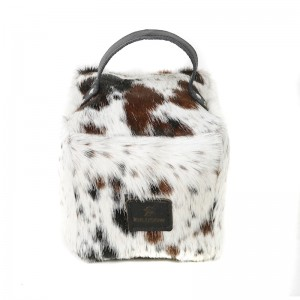 Zulucow Nguni ethically and sustainably sourced cowhide door stop, tricolour brown and white doorstop, interiors, home accessories, christmas unisex presents