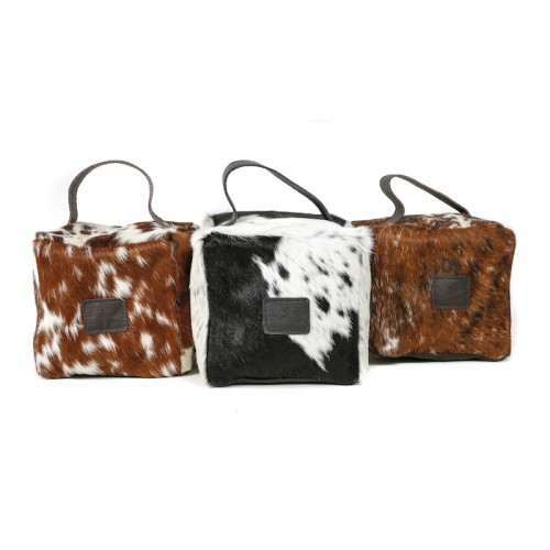 Zulucow Nguni cowhide doorstops, home decor, interiors, christmas gifts