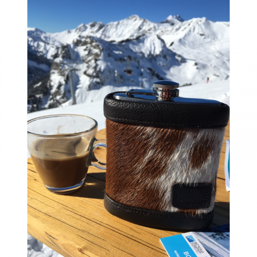 Zulucow cowhide, natural leather, hip flask, unique, handmade, 8oz hip flask, mens gifts, presents for men, father's day gifts