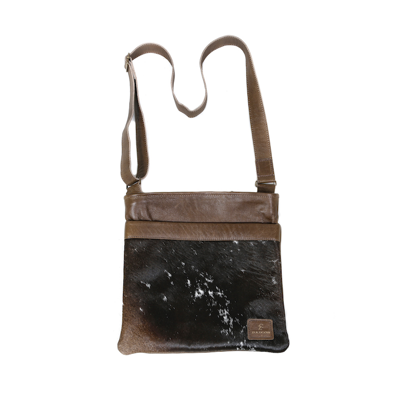 f690749e2d8 Zulucow Nguni cowhide leather shoulder bag black and white whirl bags  womens fashion