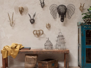 Nkuku, artisans, handmade, ethicallymade, sustainablestyle, wire heads, african heads, wall hangings, elephant wall hanging, timeless design, traditional skills, natural materials.