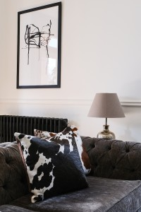 Zulucow Nguni cowhide cushion brown and white scatter cushions home accessories soft furnishings interiors home decor pillows, boho chic, sustainable interiors, eclectic interiors, monochrome home, chic home, victorian home