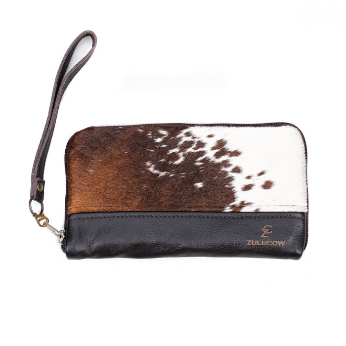 cowhide purse, wallet, travel wallet, clutch, cowhide clutch,leather wallet sustainable fashion, slow fashion, sustainable, handmade purse, artisan-made, ethically made, leather wallet