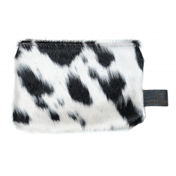 leather, cowhide purse, black and white, accessories, sustainable, ethically-made, unique gifts, stocking fillers