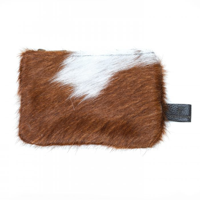 leather, cowhide purse, brown and white, accessories, sustainable, ethically-made, unique gifts, stocking fillers