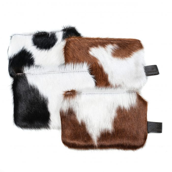 leather, cowhide purse, black and white purse, brown and white, accessories, sustainable, ethically-made, unique gifts, stocking fillers