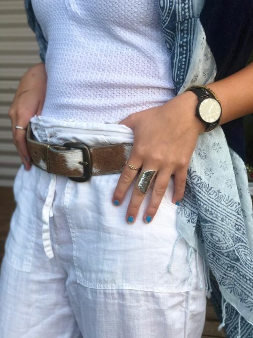 sustainable, ethically made, handmade cowhide belts, cowhide, Nguni