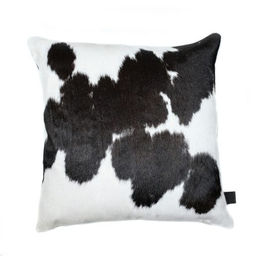 Zulucow Nguni cowhide cushion black and white scatter cushions home accessories soft furnishings interiors home, sustainable, ethical, handmade, animal print cushion, fur cushions, pillows, faux fur cushion
