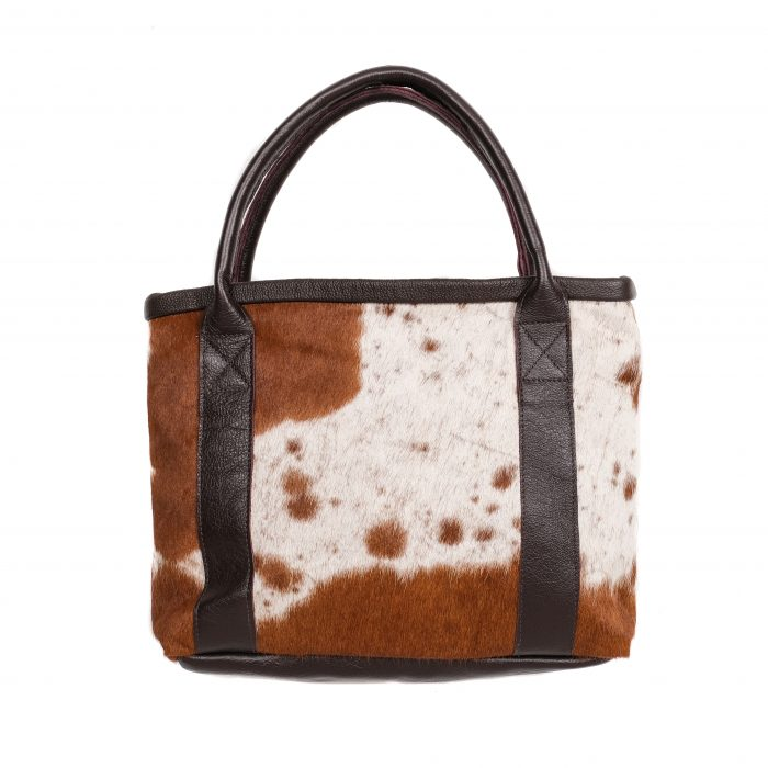 Zulucow cowhide tote bag, leather handbag, handmade, sustainable, ethical