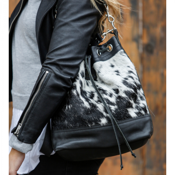 Zulucow bucket leather bags, fashion accessories, women's accessories, sustainable, ethical