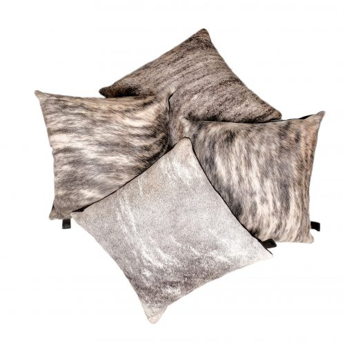 Zulucow Nguni cowhide grey and white cushion, scatter cushions home accessories soft furnishings interiors home, sustainable, ethical, handmade
