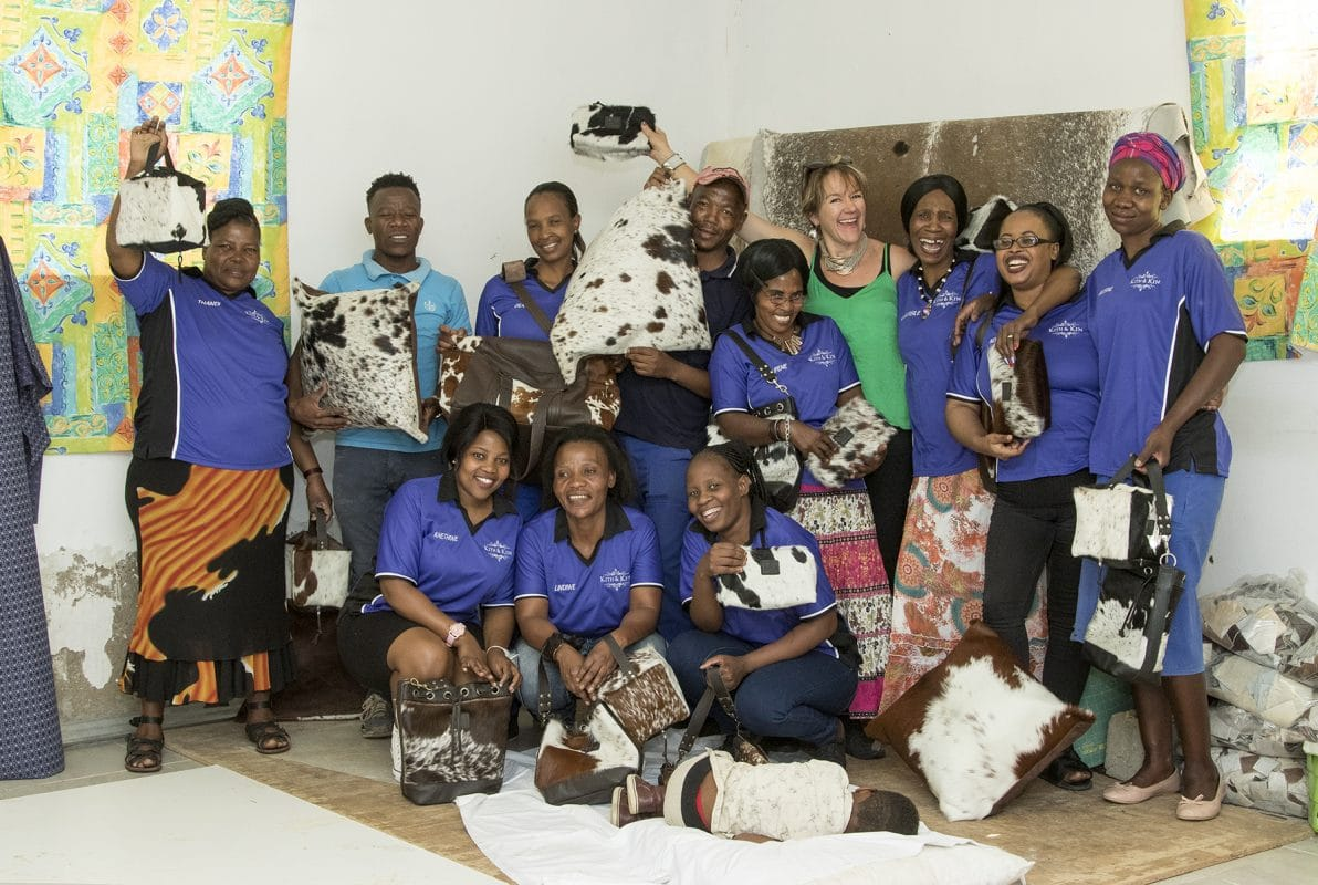Zulu women creating ethically sourced cowhide products